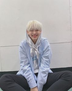 VICTON's Choi Byungchan Looks Absolutely Gorgeous With White Hair - Koreaboo - marlene Causes Of White Hair, Boy With White Hair, Kpop, Osho, K Idols, Absolutely Gorgeous, Bambi, Pretty Boys, Bomber Jacket