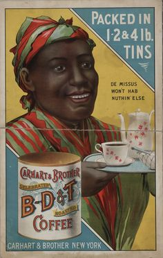 Coffee Poster Black Art African American Art BD&T Coffee Blue and Yellow Art Print Giclee Print Vintage Posters Wall Art 1908 Vintage Labels, Vintage Ephemera, Vintage Ads, Vintage Posters, Vintage Black, Vintage Pantry, Vintage Medical, Vintage Graphic, Vintage Tools