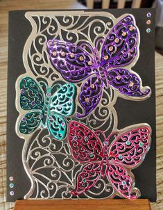 Crafters Companion create a card die Delicate Wings card using alcohol markers by Traci Wood 2018 Quilling is the art of creating photos, objects and pr 3d Quilling, Quilling Flowers, Quilling Patterns, Quilling Designs, Birthday Cards For Women, Handmade Birthday Cards, Butterfly Cards, Flower Cards, Wings Card