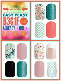 Jamberry Buy 3 Get 1 Free combinations! Amazing, fun, and addicting deal! gennelson.jamberrynails.net