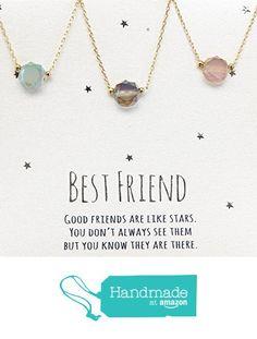 Best friends necklace for 3, BFF Necklace, friendship necklace for 3, Gold dainty necklace, gemstone necklace, gray necklace, tiny gemstone, dot necklace from DIANPEARL https://www.amazon.com/dp/B06W2J4ZRR/ref=hnd_sw_r_pi_dp_tVRbzbNY6W00Q #handmadeatamazon