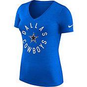 $35--2--Nike Women's Dallas Cowboys Dri-FIT Touch Royal Performance T-Shirt