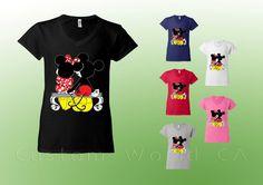 Best Friends V Neck Shirt  Mickey and Minnie by CustomWorldCA, $12.99