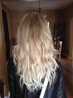 messy blonde hair with a gradation { subtle ombre effect .. a little long might be even better!