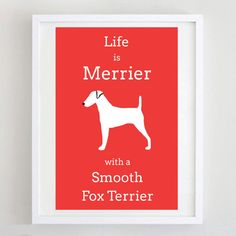 Smooth Fox Terrier Dog Print Dog Picture Dog by ForeverFoxed, £18.50