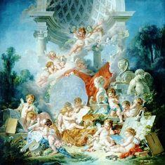 Geniuses of the arts - Les génies des arts  1776 Oil on canvas François Boucher (1703 - 1770)