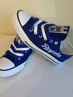 Kansas city royals unisex tennis shoes by Sportzfanatics on Etsy https://www.etsy.com/listing/224192201/kansas-city-royals-unisex-tennis-shoes