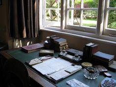 Lewis's desk by Melanie Jeschke Office Nook, Study Office, Cs Lewis, Writing Offices, Writers Desk, Writing Area, Room Of One's Own, Mid Century Modern Design, Home Office Design