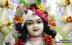 To view Nitai Close Up Wallpaper of ISKCON Chowpatty in difference sizes visit - http://harekrishnawallpapers.com/sri-nitai-close-up-wallpaper-014/