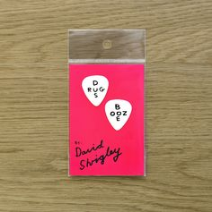 David Shrigley Guitar Plectrum Drugs