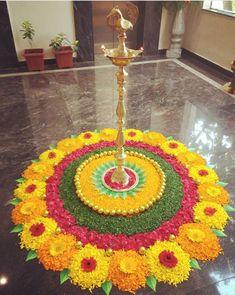 Flower Rangoli For Diwali Flower Rangoli Images, Simple Flower Rangoli, Rangoli Designs Flower, Colorful Rangoli Designs, Rangoli Patterns, Rangoli Designs Images, Rangoli Ideas, Rangoli Designs Diwali, Beautiful Rangoli Designs