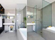 Luxury bathroom Hotel Sezz Sainte Luxury Hotel Sezz Saint in Saint Tropez, France, Interior Design by Christophe Pillet