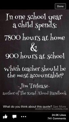 ... or the teacher's fault, parents need to take responsibility too