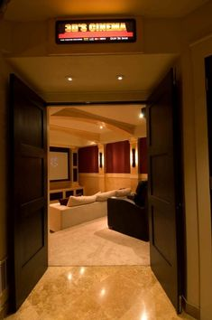 movie room (I'd be the coolest aunt) – Media Room İdeas 2020 Home Cinema Room, At Home Movie Theater, Home Theater Speakers, Home Theater Rooms, Home Theater Design, Home Movies, My New Room, My Dream Home, Home Remodeling