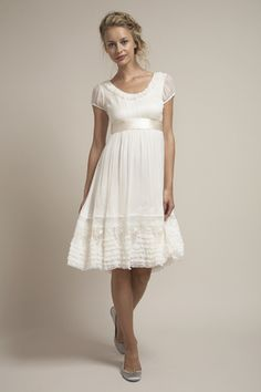 i don't like short wedding dresses, but i actually think this is so cute! most likely not, but soo cute!!