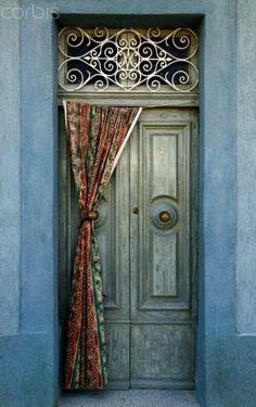 Old wooden door, Marsaxlokk, Malta, Malta Island