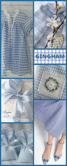 '' Gingham- Blue & White '' by Reyhan S.D