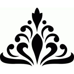 damask shape from the Silhouette Design Store! Stencil Decor, Stencil Art, Stencil Designs, Stenciling, Deco Cuir, Crochet Bedspread Pattern, Arabesque, Textile Pattern Design, Stencil Printing