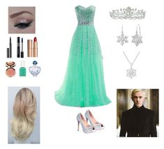 """Going To The Yule Ball With Draco Malfoy"" by fashionista-gurl-1 ❤ liked on Polyvore featuring Lauren Lorraine, Kate Marie, Amanda Rose Collection, Ciaté, Surratt, Christian Dior, Charlotte Tilbury, Guerlain and Essie"