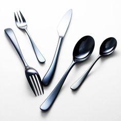 Mid-night Blue Flatware, Tableware, Night, Blue, Cutlery Set, Dinnerware, Tablewares, Dishes, Cutlery