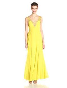 BCBGMAXAZRIA Women's Mariena Deep V-Neck Gown with Neckline Embellishment, Light Lemongrass, 2 BCBGMAXAZRIA http://www.amazon.com/dp/B00P0XMVAE/ref=cm_sw_r_pi_dp_PccEvb0373G1G