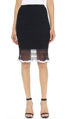 Alexander Wang Smocking Skirt
