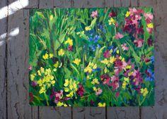 Waiting for Wildflowers  Original Painting by LaurenElyseArt