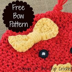 Cream Of The Crop Crochet: Free Bow Pattern