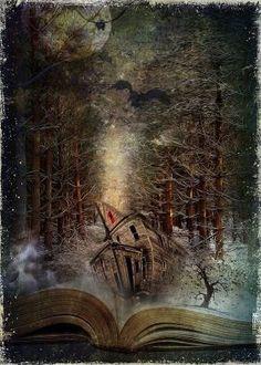 Surrealism Art - Night Story by Svetlana Sewell Fantasy World, Fantasy Art, Book Art, Illustration Art, Illustrations, World Of Books, Magic Book, Canvas Prints, Art Prints