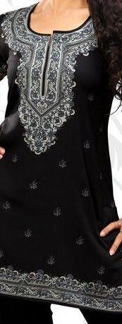Alsharifa.com - Rana Hip-Length Indian Kurti Tunic, $21.00 (http://shop.alsharifa.com/rana-hip-length-indian-kurti-tunic/)