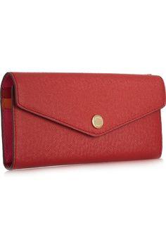 MICHAEL Michael Kors|Color-block textured-leather wallet|NET-A-PORTER.COM