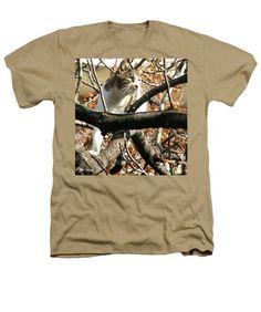 #Cat Hunting Bird Heathers #TShirt by Judi Saunders