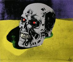 Terminator art print signed limited edition of 5