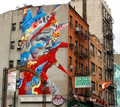 Colorful Image Mashups Form Vibrant Murals by Tristan Eaton - My Modern Met
