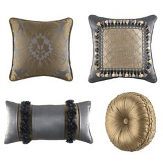unique pillows | Croscill Sapphire Decorative Pillows Decorative Pillows at Croscill ...