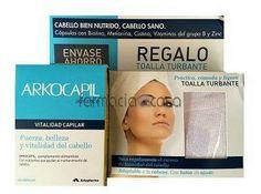 ARKOCAPIL ADVANCE 120 CAPSULAS + TOALLA TURBANTE REGALO  Arkocapil advance es un complemento alimenticio con aminoácidos y vitaminas que ayudan al mantenimiento del cabello.