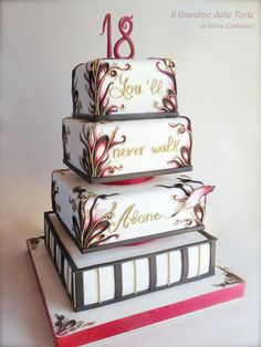 A cake for Sofia! Wedding cake per il 18 ° compleanno di Sofia