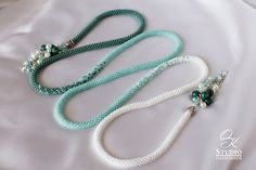Rope Necklace, Crochet Necklace, Beaded Necklace, Beaded Bracelets, Seed Bead Jewelry, Beaded Jewelry, Jewelry Necklaces, Jewellery, Seed Bead Bracelets Tutorials