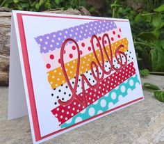 Lorraine's Loft: Going Dotty with Washi :-) Made using a Simon Says Stamp 'Hello' die and lots of dotty washi :-) http://loraquilina.blogspot.com/2013/10/going-dotty-with-washi.html