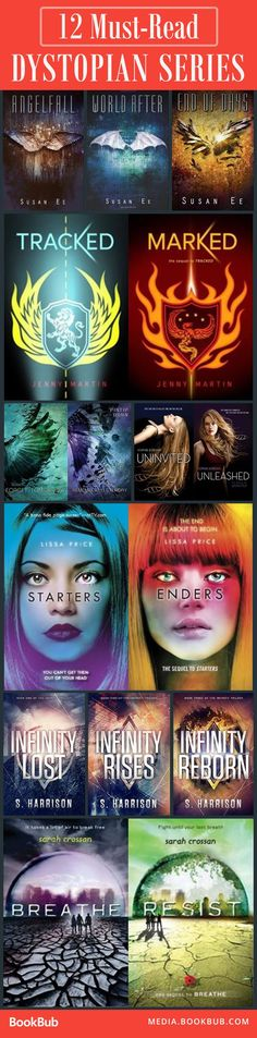 Dystopian Series You Can Read in One Weekend 12 YA dystopian series to read. If you loved The Hunger Games or Divergent, this list is for YA dystopian series to read. If you loved The Hunger Games or Divergent, this list is for you. Books And Tea, Ya Books, I Love Books, Good Books, Books To Read, Teen Books, Book Suggestions, Book Recommendations, Reading Material