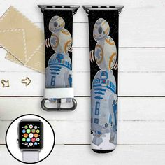 R2D2 and BB8 STar Wars Custom Apple Watch Band Leather Strap Wrist Band Replacement