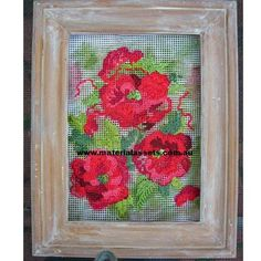 $30.00 Poppies Postcard Embroidery by MaterialAssets on Handmade Australia