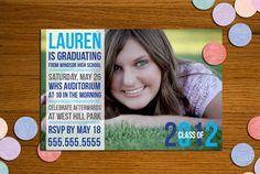 Printable Newsprint Graduation Announcement
