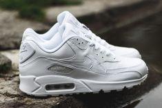 "Nike Air Max 90 Leather ""Triple White"""