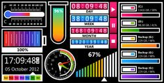JavaScript Gauges in Metro Style . JavaScript Gauges in Metro Style is a set of 8 gauges created in the modern Windows8 or Metro style which can be added to virtually any web application: ASP, ASP.NET, PHP, JSP, ColdFusion, Ruby on Rails, and simple HTML