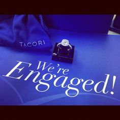Capri Jewelers Arizona  ~ www.caprijewelersaz.com We're Engaged with a Tacori!!!!  #tacorigirl  #engaged #tacori