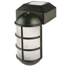 Solar Light Outdoor Landscape Cap Post LED Fence Deck Lamp Industrial Black NEW