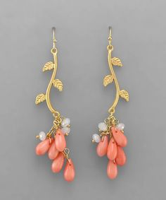 Coral Rella Earrings on Emma Stine Limited