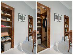 Scandinavian interior design, hidden closet ! photocredit for alvhemmakleri.se