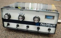 """The Palomar 300A Linear Amplifier - covers 10 thru 40 meters. Mine has an external cooling fan added to the top over the set of 4 tubes (there are six """"6KD6"""" tubes inside all together). I can get between 450 and 600 watts or more out of mine when necessary."""
